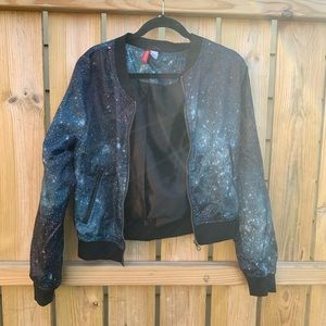 H&M Galaxy Old School Bomber